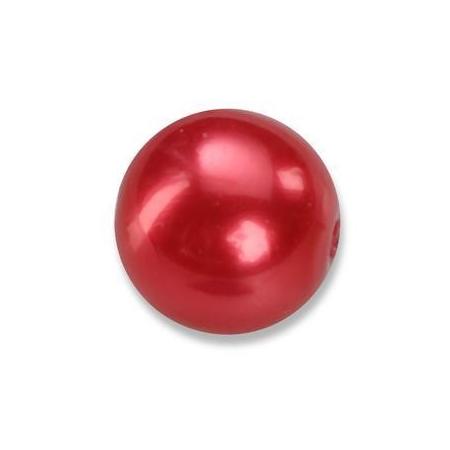 Perles en verre nacrées de Bohème rouge 4mm