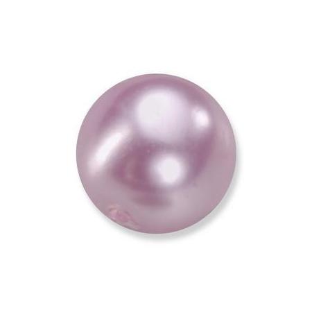 Perles en verre nacrées de Bohème rose 4mm