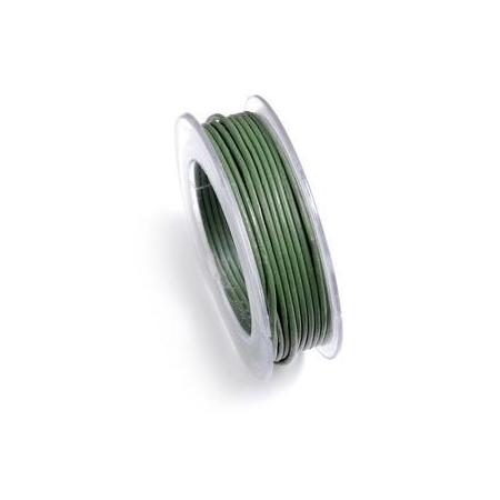 Lacets de cuir 1mm 5m vert