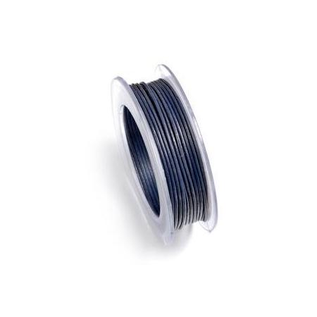 Lacets de cuir 1mm 5m bleu fon