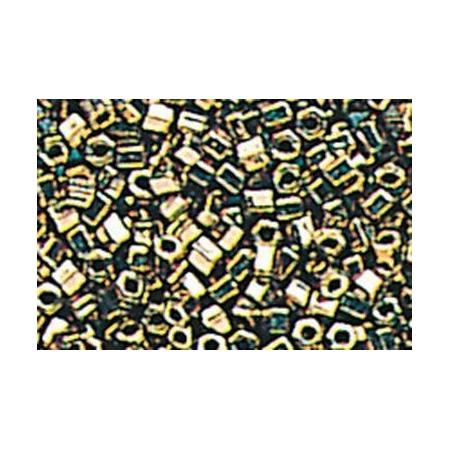 Rocailles hexagonale métal argent ancien15 grs