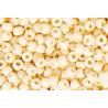 Rocailles ronde opaque , beige 15 grs
