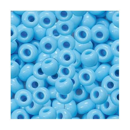 Rocailles indiennes 5mm bleu ciel 35 grs