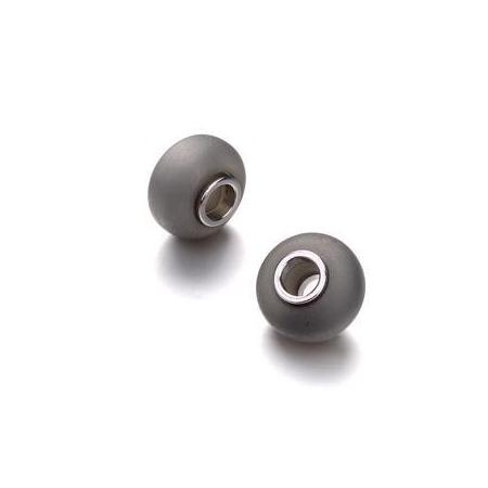 Perle polaris grand trou gris