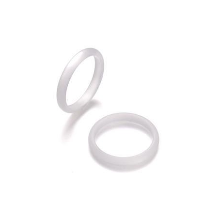 Bague Polaris3mm,taille18 blanc