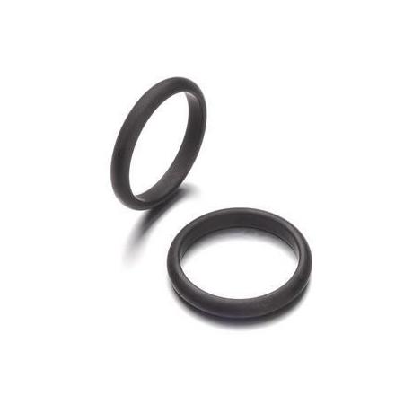 Bague Polaris 3mm taille 19 noir