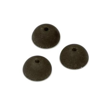Demi Perle Polaris Aspect Pierre 14mm brun foné