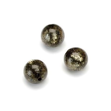 Perles Polaris Scintillante 12mm brun foncé