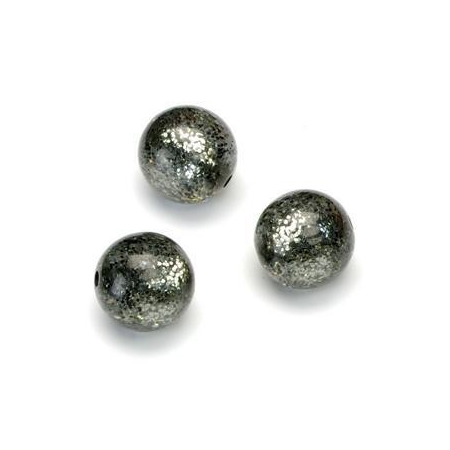 Perles Polaris Scintillante 12mm gris