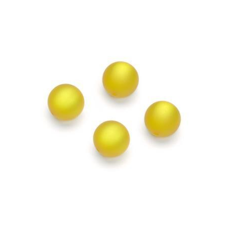 Perles Polaris mates 10mm jaune