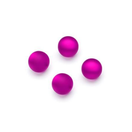 Perles Polaris mates 10mm fuschia