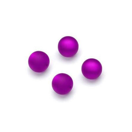 Perles Polaris mates 10mm violet
