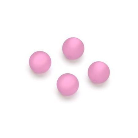 Perles Polaris mates 10mm rose