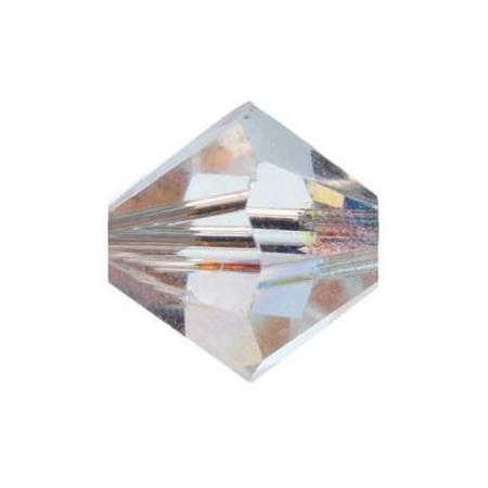 Perle toupie 4mm cristal AB Swarovski