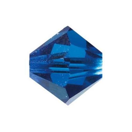 Perle toupie 4mm capri blue Swarovski