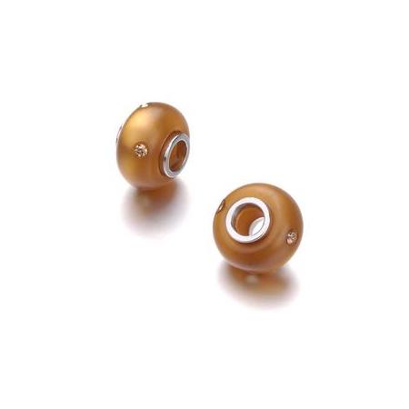 Perle 14mm avec 4 strass Swarovski cuivre