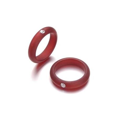 Bague Polaris 5mm,1strass Swarovski taille18 rouge