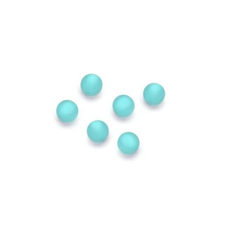 Perles Polaris mates 6mm menthe