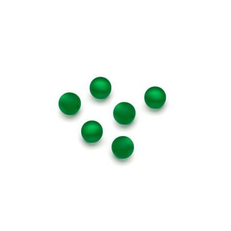 Perles Polaris mates 6mm vert