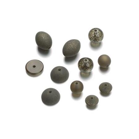 Mix de perles formes Polaris brun foncé