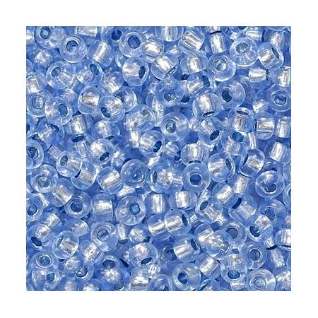 Rocailles arg.2,5mm bleu d'eau 20 grs