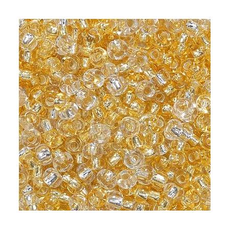 Rocailles assorties 2,5mm doré/argent 20 grs