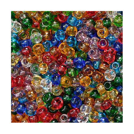 Rocailles assorties 2,5mm multicolore 20 grs