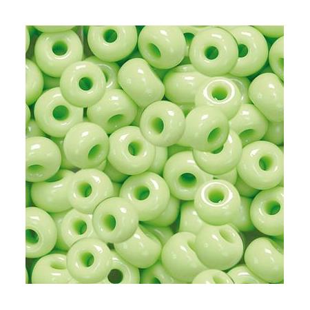 Rocailles indiennes 5mm vert printemps 35 grs